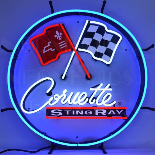 C2 Corvette Sting Ray Neon Sign