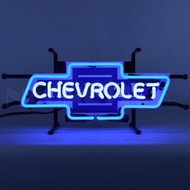 Small Vintage Chevrolet Bowtie Neon Sign