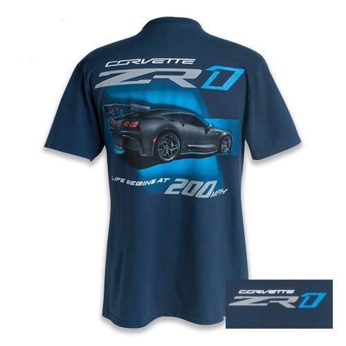 C7 ZR1 Corvette Blue T-Shirt