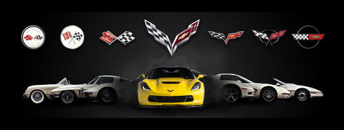 Corvette Generations Gallery Canvas Picture