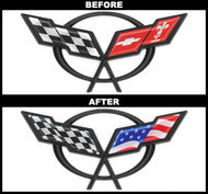 C5 Corvette USA Flag Overlay