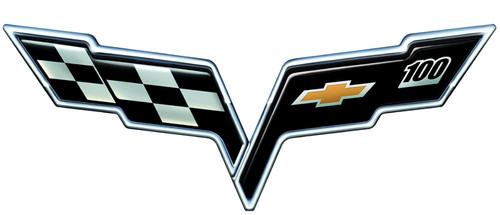 C6 Corvette 100 Years Metal Sign Corvette Depot