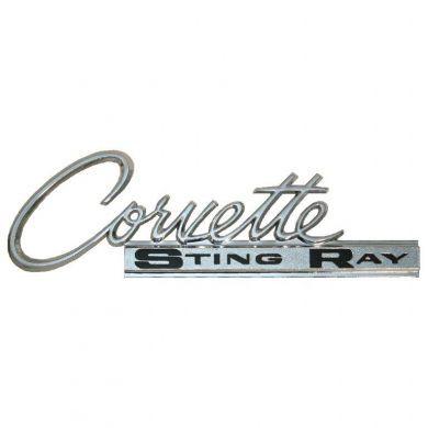 3892173 C3 Stingray Fender Emblem Specs in addition 1975 Corvette Emblem likewise C2 1963 1965 Corvette Sting Ray Deck Metal Sign as well EM10 in addition 1982 Corvette C3 Restricted Engine Choices Cross Fire Injection Introduced. on c3 corvette emblem