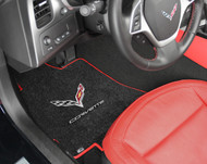 C7 Logo, Silver Lettering, Black Mat, Red Trim