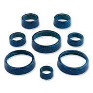C7 Corvette Interior Knob Kit - Carbon Fiber Laguna Blue