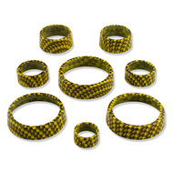 C7 Corvette Interior Knob Kit - Carbon Fiber Velocity Yellow