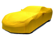 C7 Corvette Racing Yellow Car Cover
