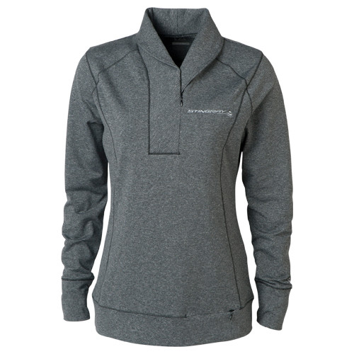 Ladies C7 Stingray Half-Zip Sweater