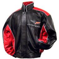 C6 Corvette Black & Red Bomber Jacket