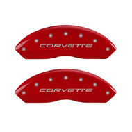 C5 Corvette Caliper Covers - Red (front)