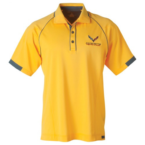 C7 Corvette Racing Yellow Polo Shirt
