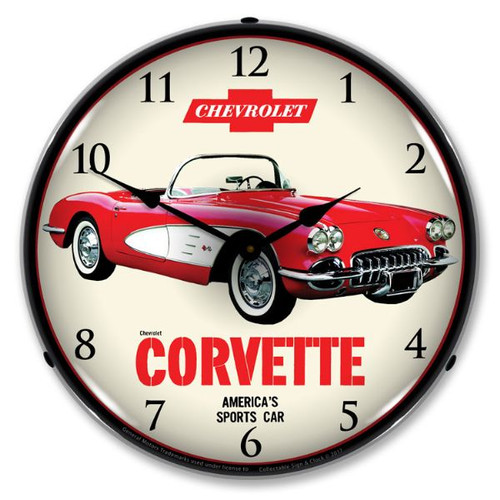 C1 1959 Corvette Backlit Clock