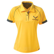 Ladies C7 Corvette Racing Yellow Polo Shirt