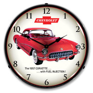 C1 1957 Fuel Injection Corvette Backlit Clock