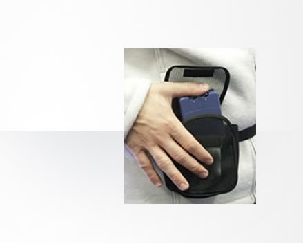 This convenient belt pouch, safely and discreetly protects your TENS or EMS unit