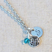 VOLLEYBALL Charm Necklace - Varsity Volleyball Senior Night Gifts