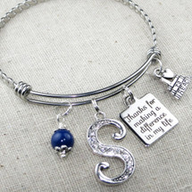 End of Year Gift for Teacher - Thanks For Making a Difference in My Life Bangle