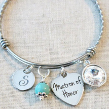 Matron of Honor Bracelet - Thank You for Standing By My Side Friend Gift