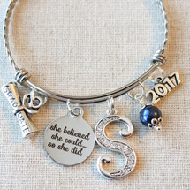 GRADUATION Gift Bangle Bracelet - Inspirational Gift for Graduate