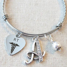 Gifts for Respiratory Therapist Radiology Tech - RRT, RT Bracelet Gift