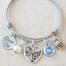 SWEET 16 Birthday Gift - DREAM BIG Sweet 16 Bangle