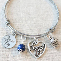 DREAM BIG Sweet 16 Bangle Bracelet - Sixteenth Birthday Gift