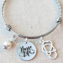 NURSE LIFE Charm Bracelet - Gifts for Nurses