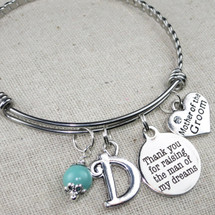 Gift for Mother in Law - Thank You For Raising The Man Of My Dreams Bracelet