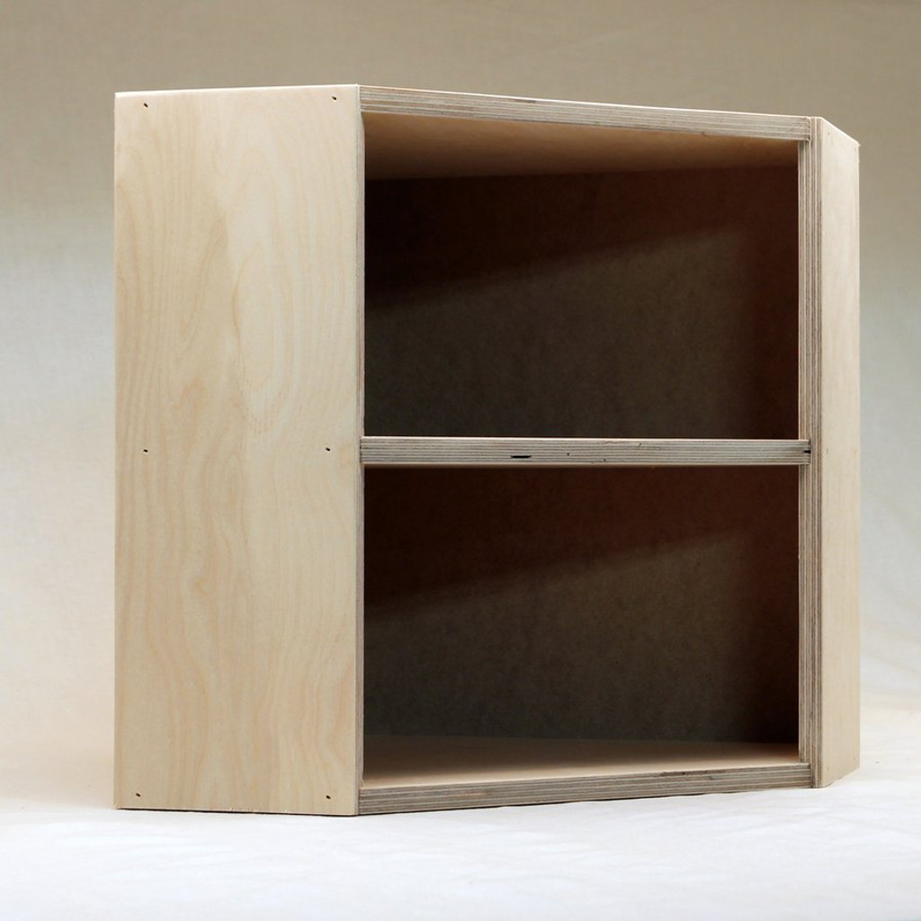 Here's a Corner Shelf with a back.