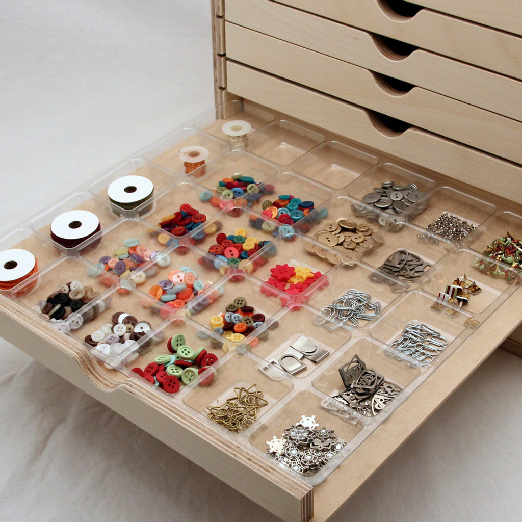 30 Compartment Embellishment Tray