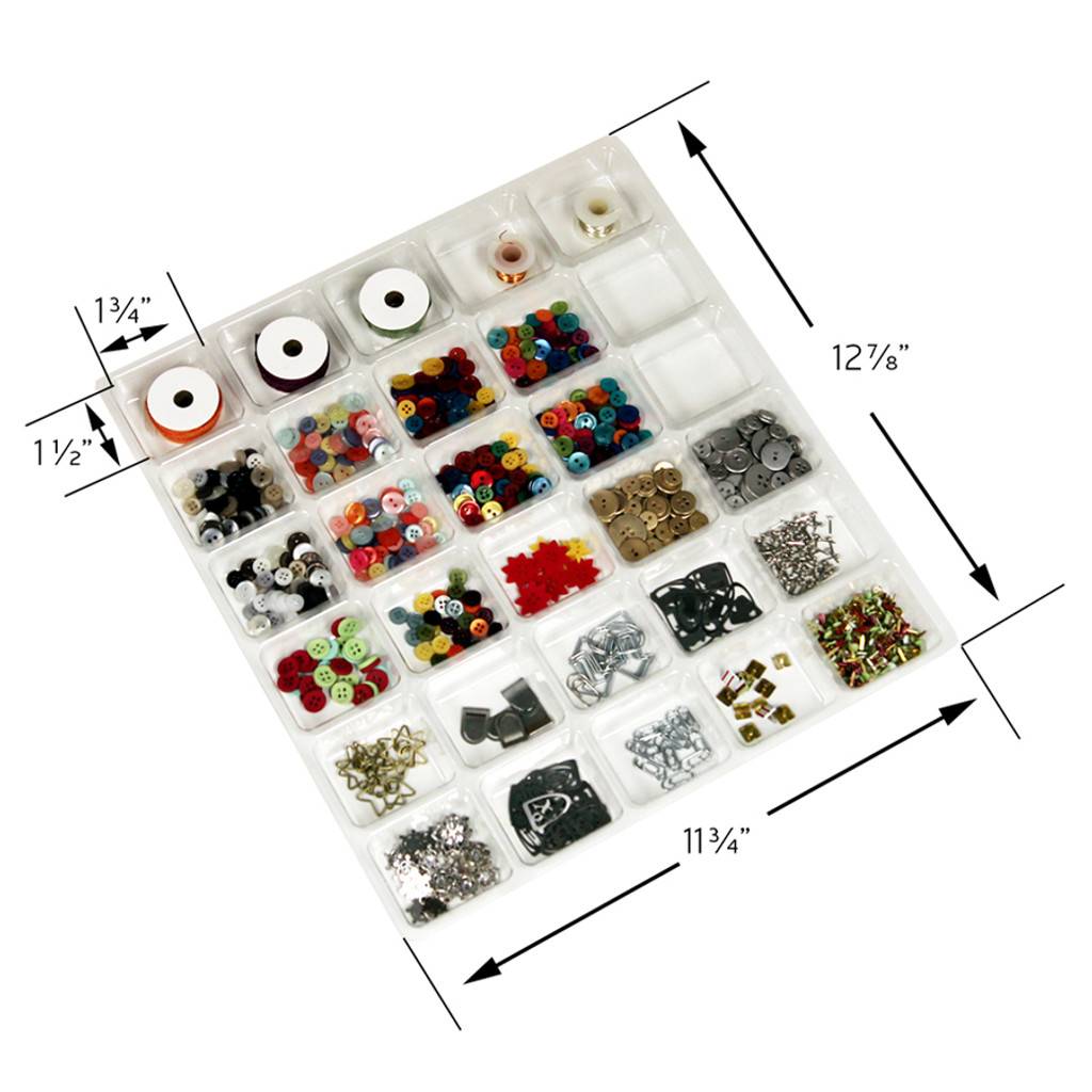 30 Compartment Embellishment Tray Dimensions