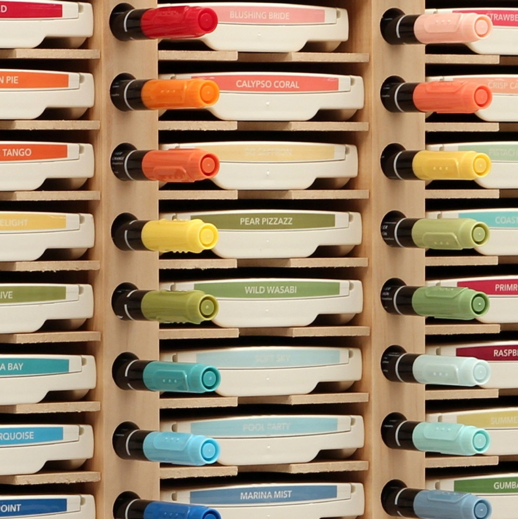 Need a place to store your ink pads and markers? Try an Ink Pad & Marker Holder!