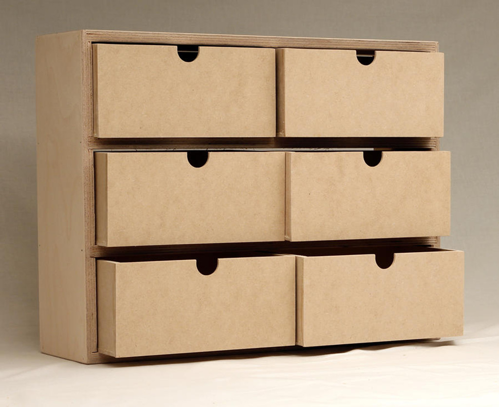 Six drawers = endless storage options!