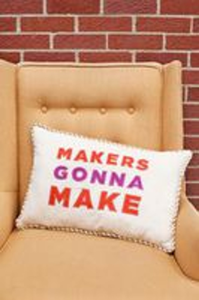 Decorate your craft room with this throw pillow!