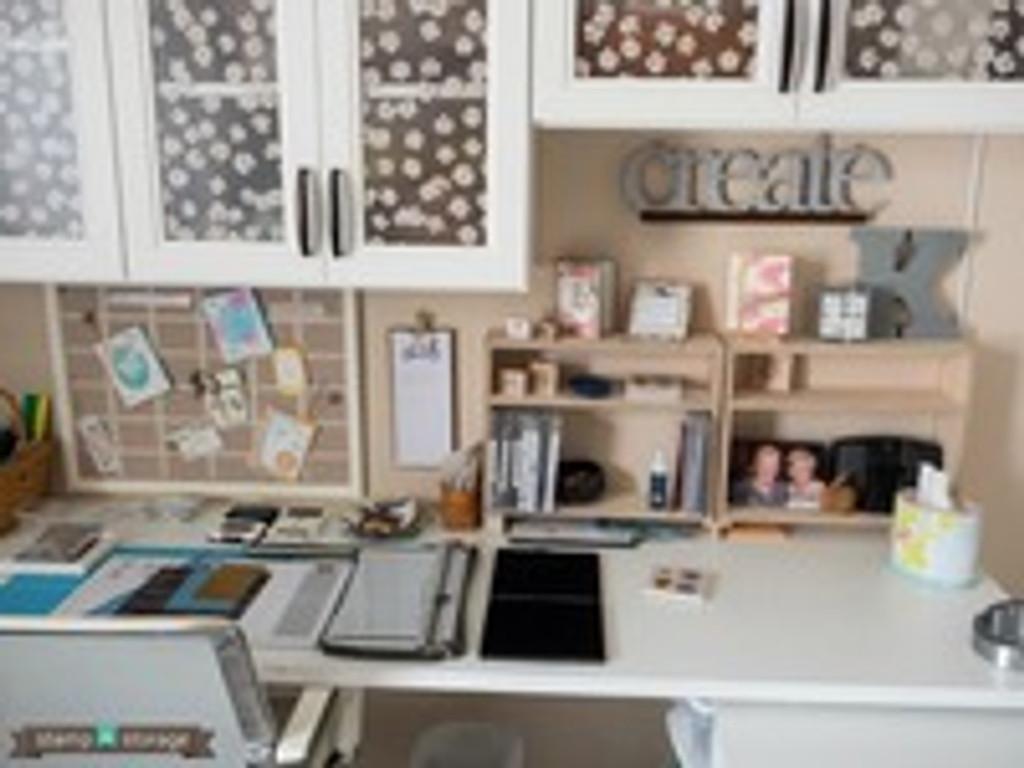 This craft room is dreamy & a Studio Showcase winner!