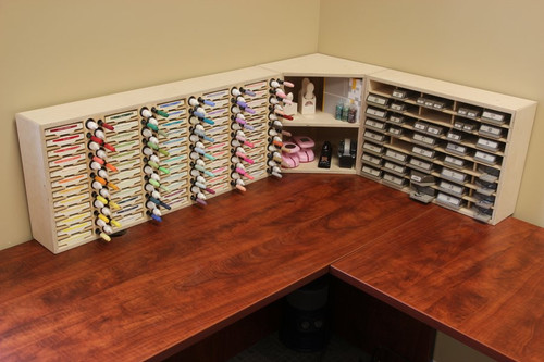 See how well the corner shelf fits in with other Stamp-n-Storage products!
