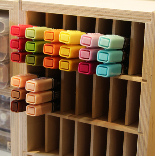 Keep the markers organized by color!