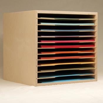 The 12x12 paper holder is an excellent option for your paper storage. They keep all of your paper stored in an easily accessible manner. You can also stack them for more paper storage.
