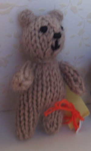 11004 - Teddy Bear - Small - Tan - Standing - No vest - OOAK
