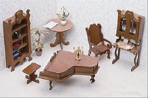 Dollhouse Miniature - FK7206 - Furniture Kit - Library