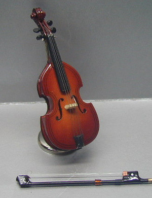"""MUS003 - CELLO With Case & Stand -  4"""""""" H"""