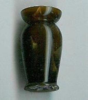 5164 - Hand Turned Artisan OOAK Acrylic Dark Brown Vase