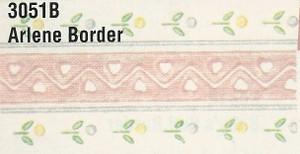 MG3051B - WP Border - Pink with Hearts