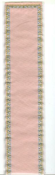 "Dollhouse Miniature - Carpet/Stair Runner - Pink - 2.5"" x 24"" - 1241"