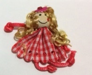 Dollhouse Miniature - 210610-1  - Raggedy Doll - Checker Dress