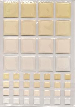 Dollhouse Miniature - 57407 - TILES - Cream