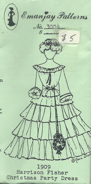 3004 -1909 Harrison Fisher Christmas Dress-Emanjay Sewing Pattern
