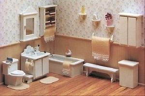 Dollhouse Miniature - FK7210 - Furniture Kit - Master Bathroom