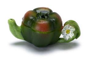 FCA181 - Green and Orange Pepper Teapot - N4181