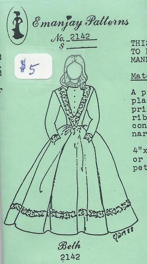 2142 - Beth Dress - Emanjay Sewing Pattern